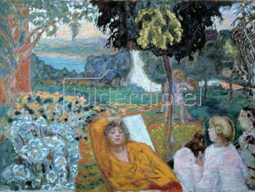 Pierre Bonnard: Abend oder Siesta in einem Garten im Süden