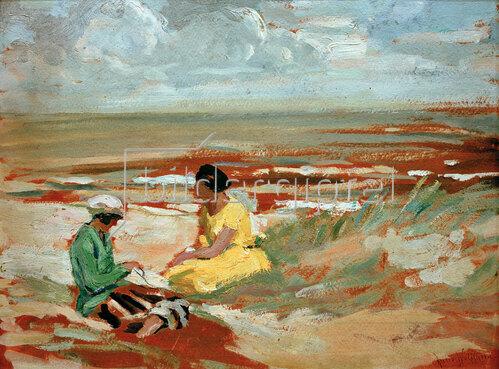 Julie Wolfthorn: Zwei Frauen am Strand