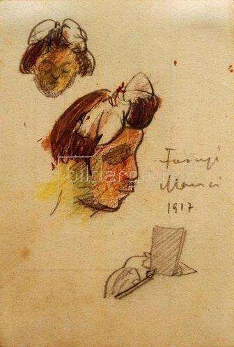 László Moholy-Nagy: Manci Faragi, 1917