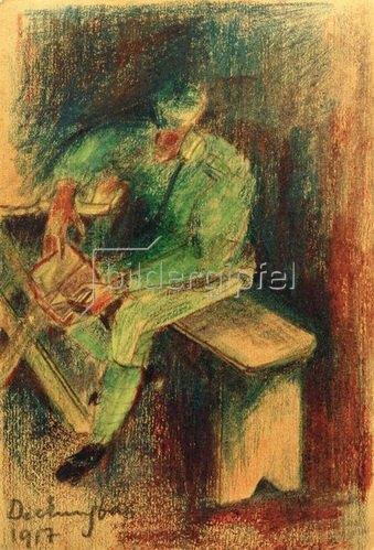 László Moholy-Nagy: Soldat beim Deckungsbau, 1917