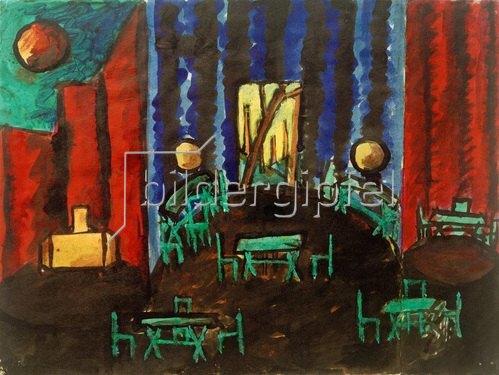 László Moholy-Nagy: Bühnenbildentwurf, 1920