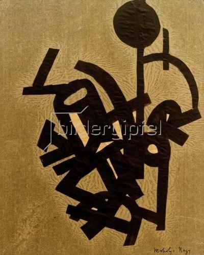 László Moholy-Nagy: Collage mit R, 1922