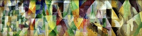 Robert Delaunay: Die Fenster zur Stadt,  1912 (1.Teil, Simultankontraste)