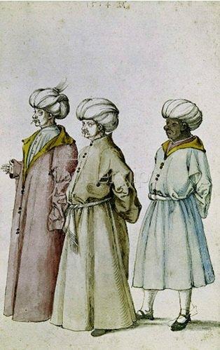 Albrecht Dürer: Die drei Orientalen, um 1494/95