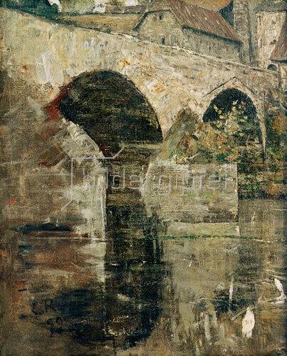 Christian Rohlfs: Flußbrücke vor dem Stadttor (Brücke in Weimar)