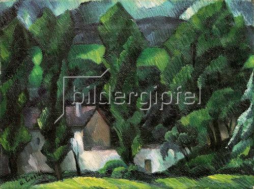 Adolf Erbslöh: Pappeln am Fluss