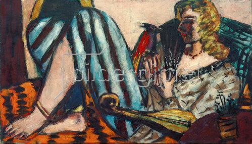 Max Beckmann: Frau mit rotem Hahn, 1941