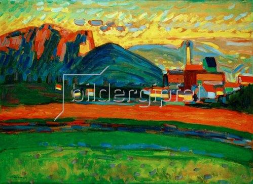 Wassily Kandinsky: Berglandschaft mit Dorf I
