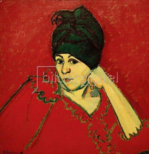Alexej von Jawlensky: Helene mit dunkelblauem Turban, 1910