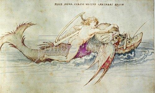 Albrecht Dürer: Arion wird von einem Delphin gerettet, um 1515.
