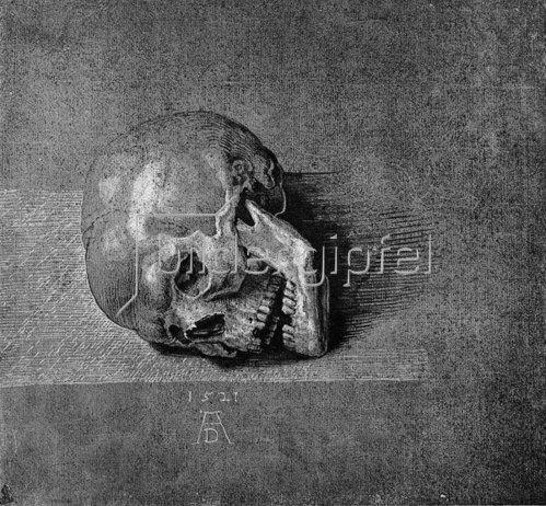 Albrecht Dürer: Ein Totenkopf, 1521