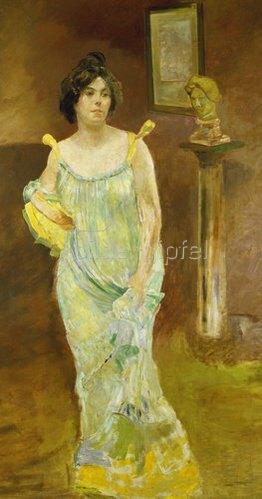 Max Klinger: Bildnis Elsa Asenijeff. 1903/1904.