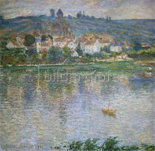 Claude Monet: Blick über den Fluss auf Vetheuil. 1901.