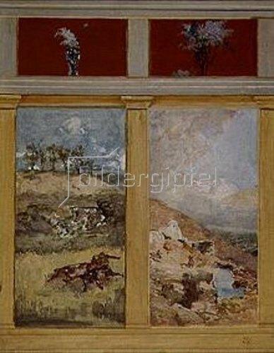 Max Klinger: Kämpfende Kentauren. Entwurf für die Wanddekoration der Villa Albers. 1883.