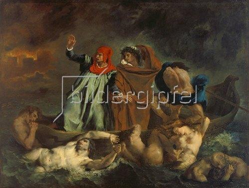 Eugene Delacroix: Dante und Virgil in der Hölle (oder: Die Dante-Barke). 1822