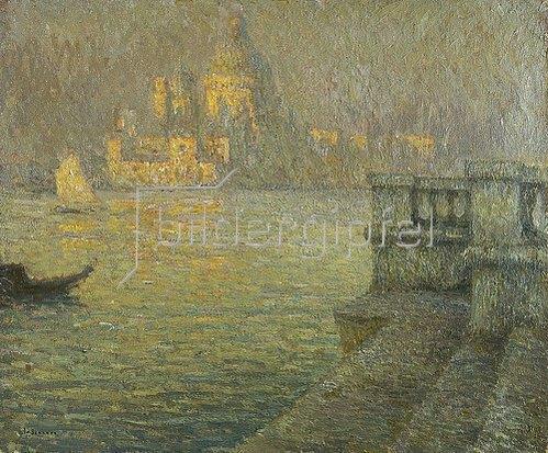 Henri Le Sidaner: Venedig, Santa Maria della Salute.