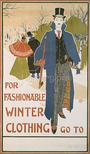 Louis John Rhead: For fashionable Winter Clothing.
