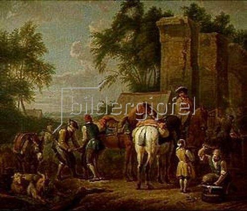 Pieter van Bloemen: Die Schmiede. 1718.