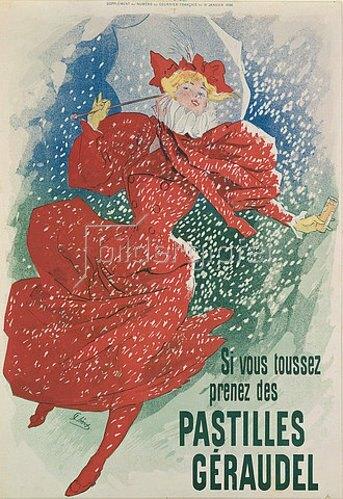 Jules Cheret: Si vous toussez prenez des pastilles Géraudel.