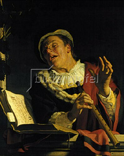 Gerrit van Honthorst: Der Flötenspieler.