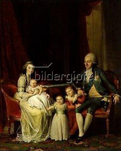 Jens Juel: Erbprinz Friedrich von Dänemark mit seiner Familie.
