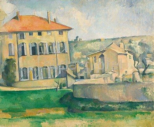 Paul Cézanne: Haus in Aix-en-Provence (Maison et ferme au Jas de Bouffan). 1885/1887