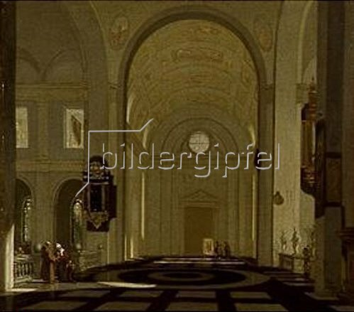 Emanuel de Witte: Inneres einer Renaissance-Kirche.