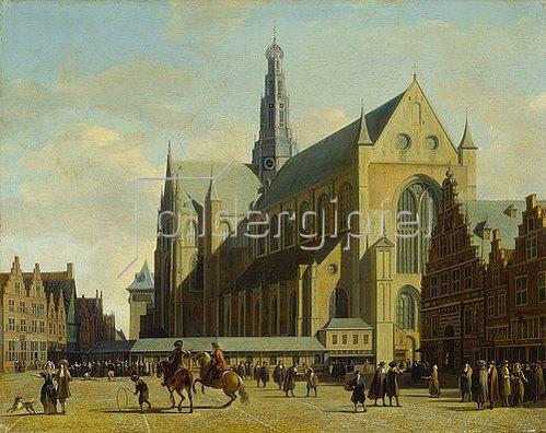 Gerrit Adriaensz Berckheyde: Die Groote Kerk in Haarlem. 1683.
