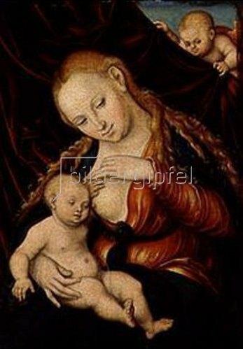Lucas Cranach d.Ä.: Madonna, dem Christkind die Brust reichend. Um 1530-1535.