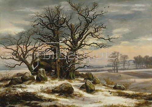 Johan Christian Clausen Dahl: Hünengrab im Winter. 1825.