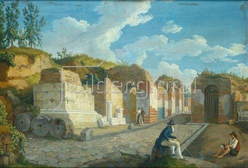 Jacob Philipp Hackert: Das Herkulaner Tor in Pompeji. 1794.