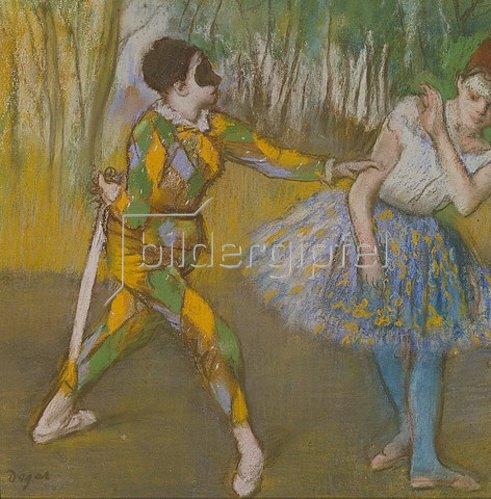 Edgar Degas: Harlekin und Columbine. Um 1886