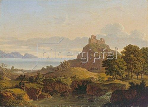 Leo von Klenze: Italienische Landschaft.