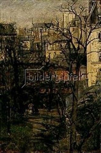 Gotthard Kuehl: Blick auf den Montmartre in Paris.
