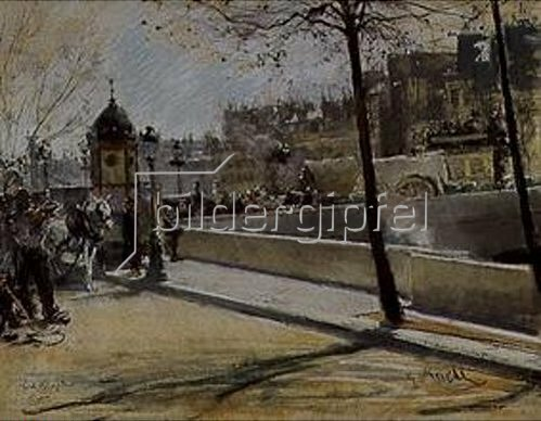 Gotthard Kuehl: Pont Royal in Paris.