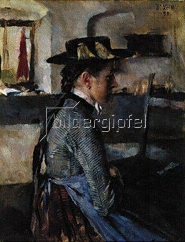 Wilhelm Leibl: In Erwartung. 1898.