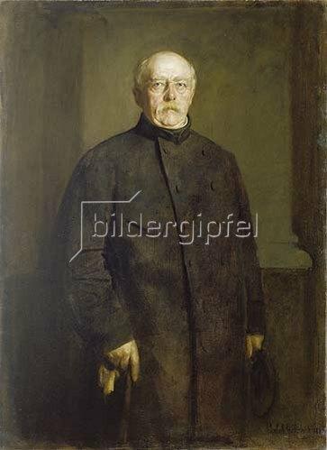 Franz von Lenbach: Bismarck in Ziviltracht, Bildnis, Friedrichsruh 1888.