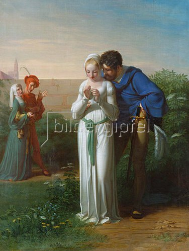 Gustav Heinrich Naeke (Naecke): Faust und Gretchen.