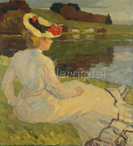 Leo Putz: Dame in Weiss. 1901.