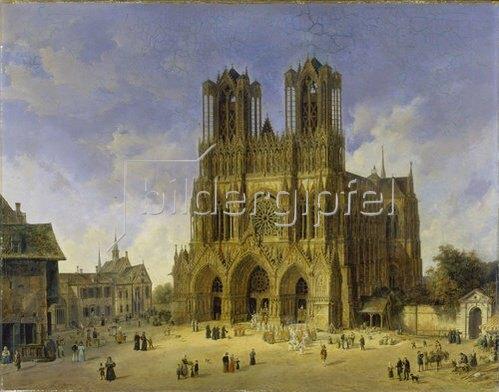 Domenico Quaglio: Der Dom zu Reims. 1833