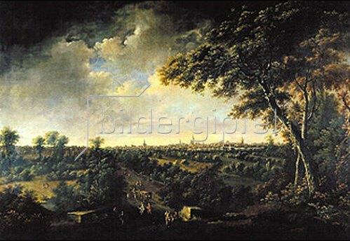 Johann Alexander Thiele: Leipzig, von Lindenau aus gesehen.