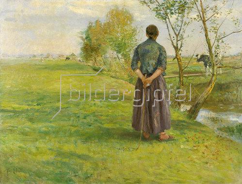 Fritz von Uhde: Im Herbst.