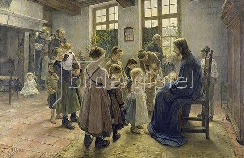 Fritz von Uhde: Lasset die Kindlein zu mir kommen. 1884