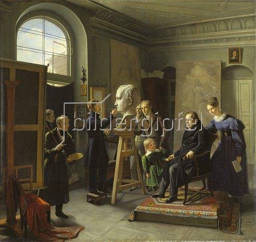 Carl Christian Vogel von Vogelstein: Ludwig Tieck, von David d'Angers porträtiert. 1834.