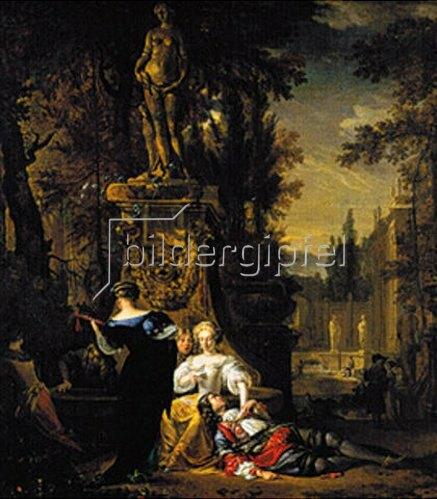 Jan Weenix: Galante Gesellschaft im Freien. Um 1667.