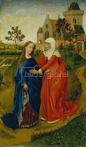 Rogier van der Weyden: Heimsuchung Mariae. Um 1435