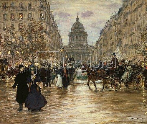 Jean François Raffaelli: Der Boulevard Saint-Michel in Paris. Nach 1890.