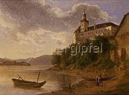 Joseph Rebell: Schloss Persenbeug an der Donau.