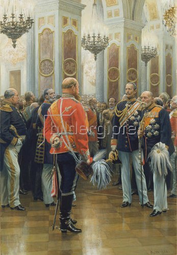 Anton von Werner: Der rote Prinz (Prinz Friedrich Karl in der Uniform der Ziethen-Husaren). 1886.