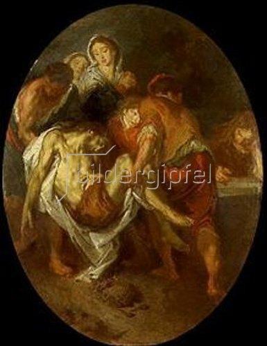 Giuseppe Bazzani: Grablegung Christi.